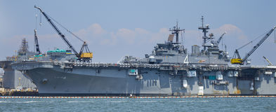 SAN DIEGO, CA - USS Boxer (LHD-4) Royalty Free Stock Images
