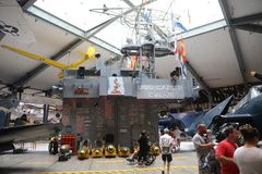 USS Cabot Exhibit Naval Aviation Museum photographie stock