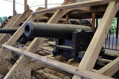 USS Cairo cannon stock images