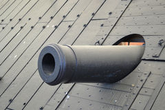 USS Cairo cannon. The Union river gunboat USS Cario was recovered from the Yazoo River in the 1960s. It is on display in Vicksburg National Military Park Stock Photo