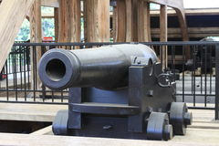 USS Cairo Ironclad War Ship Cannon Royalty Free Stock Photography