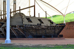 USS Cairo. The Union river gunboat USS Cario was recovered from the Yazoo River in the 1960s. It is on display in Vicksburg National Military Park Royalty Free Stock Image