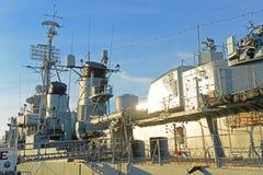 USS Cassin barn DD-793 i Boston, Massachusetts, USA arkivbilder