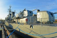 USS Cassin barn DD-793 i Boston, Massachusetts, USA royaltyfria foton
