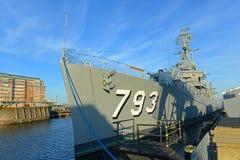 USS Cassin barn DD-793 i Boston, Massachusetts, USA fotografering för bildbyråer