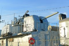 USS Cassin junges DD-793 in Boston, Massachusetts, USA stockbilder