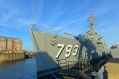 USS Cassin potomstwa DD-793 w Boston, Massachusetts, usa obraz stock