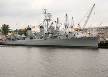 USS Cassin Young 793 docked in Boston. USA Stock Images