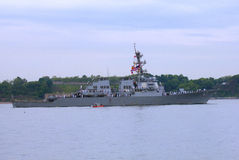 USS Cole guided missile destroyer of the United St Royalty Free Stock Photo