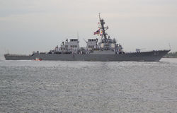 USS Cole guided missile destroyer of the United St Royalty Free Stock Image