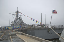 USS Cole guided missile destroyer of the United States Navy during Fleet Week 2014 Royalty Free Stock Photography