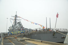 USS Cole guided missile destroyer of the United States Navy during Fleet Week 2014 Stock Image