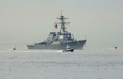 USS Cole guided missile destroyer of the United States Navy during parade of ships at Fleet Week 2014 Stock Photo