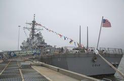 USS Cole prowadził pociska niszczyciela Stany Zjednoczone marynarka wojenna podczas flota tygodnia 2014 Fotografia Royalty Free