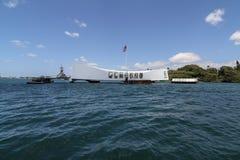 Uss conmemorativos Arizona del Pearl Harbor Fotos de archivo
