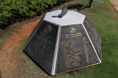 Uss conmemorativos Arizona del Pearl Harbor Foto de archivo