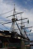 USS Constellation历史的船在巴尔的摩,马里兰 库存图片