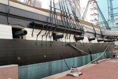 USS Constellation högväxt skepp Arkivbilder