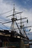 USS Constellation Historyczny statek w Baltimore, Maryland Obraz Stock
