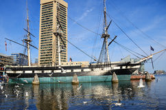 USS Constellation War Ship Royalty Free Stock Photos