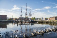 USS Constitution Boat in Boston Stock Photography