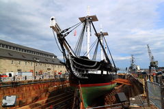 USS Constitution Repair Stock Images