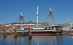 USS Constitution sailing ship Stock Photography