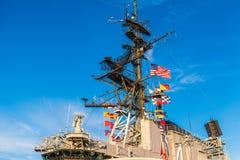 USS det halvvägs museet är ett maritimt museum royaltyfri bild