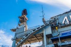 USS det halvvägs museet är ett maritimt museum arkivfoto