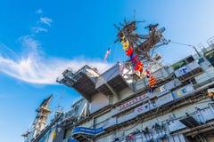 USS det halvvägs museet är ett maritimt museum fotografering för bildbyråer
