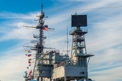 USS det halvvägs museet är ett maritimt museum arkivfoton