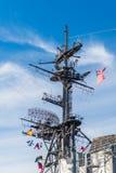 USS det halvvägs museet är ett maritimt museum arkivbilder