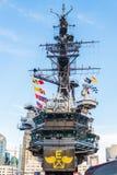 USS det halvvägs museet är ett maritimt museum arkivbild