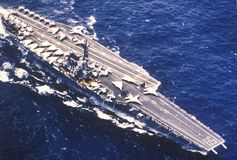 USS Forrestal Aircraft Carrier Royalty Free Stock Photo