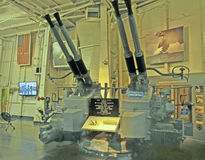 USS Franklin: Anti-Aircraft Gun Royalty Free Stock Photo