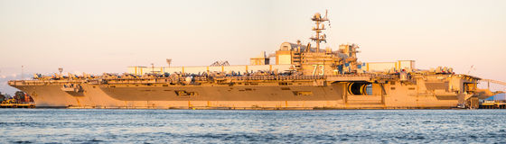 12x36 inch USS George Washington Panorama Stock Photo