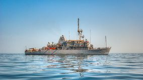 USS Gladiator (MCM 11) Mine Countermeasures Ship Stock Photos