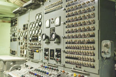 The USS Growler Submarine Missile Checkout and Guidance Center D Royalty Free Stock Photos