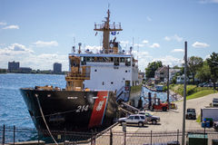 USS Hollyhock. Port Huron, Michigan, USA - United States Coast Guard cutter USS Hollyhock at it's home port of Port Huron, Michigan. The Hollyhock is known as royalty free stock photo