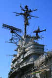 USS Hornet. Aircraft carrier on a sunny day Stock Images