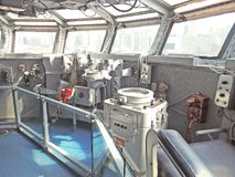 USS Intrepid:  Admiral`s Bridge Stock Photo