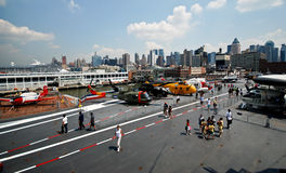 USS Intrepid aircaft museum Stock Image
