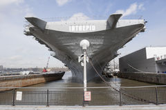 USS Intrepid in New York City Royalty Free Stock Photos