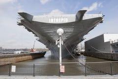 USS Intrepid in New York City Royalty Free Stock Photos