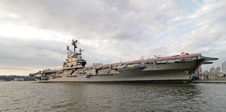 USS Intrepid warship. Intrepid Museum in New York royalty free stock image