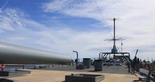 USS Iowa Battleship deck guns California 4K