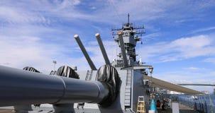 USS Iowa Battleship deck guns war ship California 4K