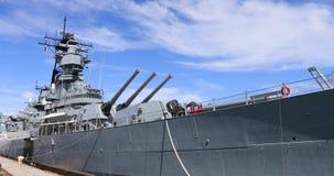 USS Iowa Battleship in harbor California 4K