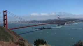 USS Iowa Opuszcza San Fransisco zatoki Zdjęcia Stock