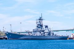 USS Iowa World War II navy ship and museum royalty free stock images